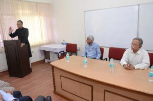 AMU VC addressing the felicitation programme